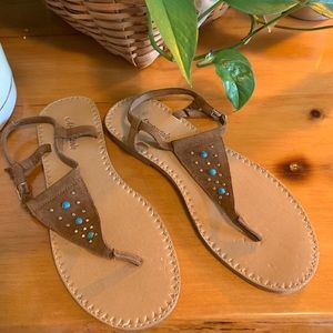 🌈Aeropostale Brown Suede Sandals